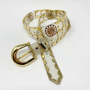 Vintage | Lion Embellished PVC Clear Belt Medium